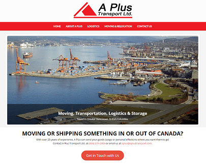 A Plus Transport Website